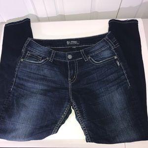 Silver Suki Mid Skinny Jeans Size W32/L31
